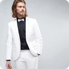 White Mens Suits Wedding Suits Bridegroom Custom Tuxedos Slim Fit Formal Best Man Prom Blazer 2pieces Terno Masculino Costume салфетка столовая коралл 3249 пвх поливинилхлорид