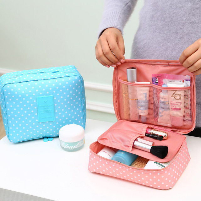 Portable Toiletry Cosmetic Bag Waterproof Makeup Make Up Wash Organizer  Storage Pouch Travel Kit Handbag Brand Design NeceserX57 e46397336c