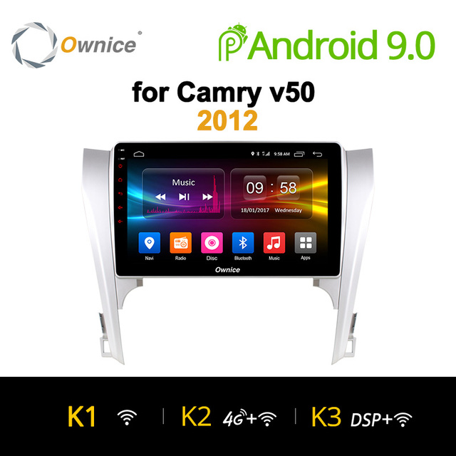 "Ownice K1 K2 K3 アンドロイド 9.0 オクタコア 10.1 ""カーラジオ DVD gps のステレオプレーヤートヨタカムリ 2012 サポート 4 4G LTE DAB + DVR TPMS"