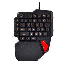 Игровая клавиатура K108 искусственный механический (с помощью одной руки клавиатура для PUGB мобильную игру левая рука маленькая клавиатура челнока 8,27