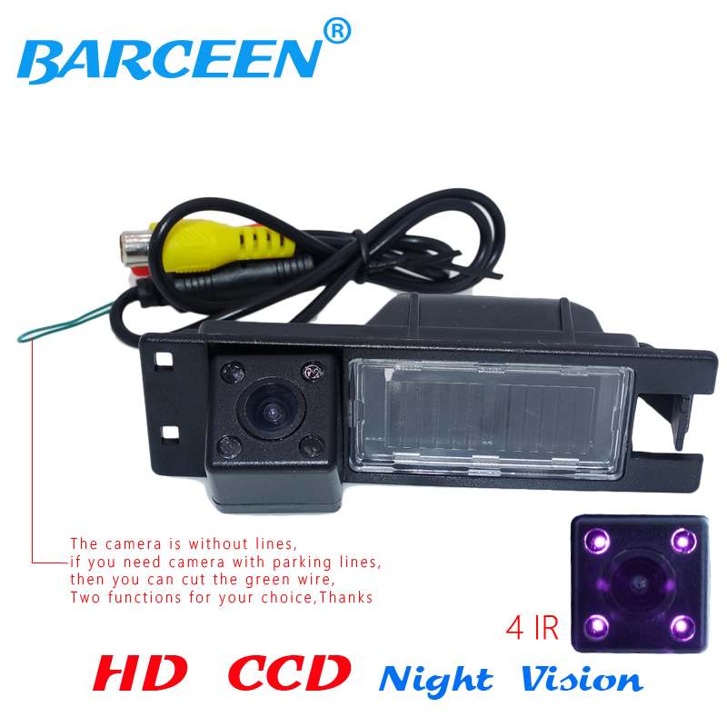 Black plastic shell car rear reserve camera rainproof +4 ir lamp for Opel Astra H /Corsa D/ Meriva A /Vectra C/Zafira B/FIAT ynd led rear license plate light for vauxhall opel corsa c d astra h j zafira b