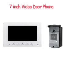 Free Shipping 7 inch Color Video door phone Intercom system doorphone kit IR outdoor Metal panel with Pinhole camera