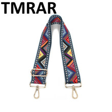 2019 New handbags strap plaid triangle design national adjusted canvas bag straps new trendy easy holding shoulder straps qn236(China)