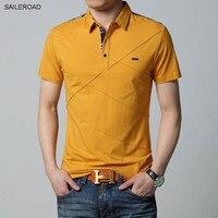 Хорошее качество 6XL плюс Размеры брендовая одежда Для мужчин рубашки поло Для мужчин хлопок футболка с коротким рукавом Повседневное Мужск...