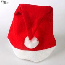 983dce7894c07 AVEBIEN 1pc Christmas Hat Thick Ultra Soft Plush Santa Claus Holidays Fancy  Dress Hats Fashionable Design