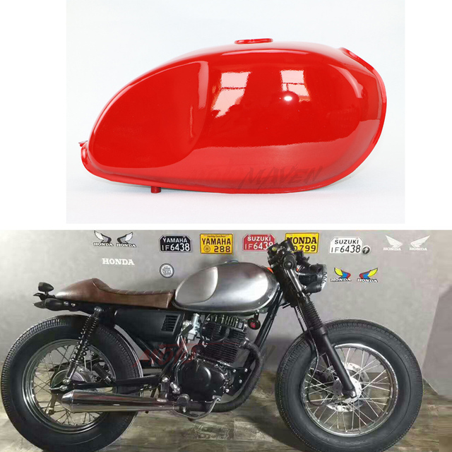 caf racer mutt mash moto modifi e du r servoir de carburant cg xf125 rouge vintage r tro caf. Black Bedroom Furniture Sets. Home Design Ideas