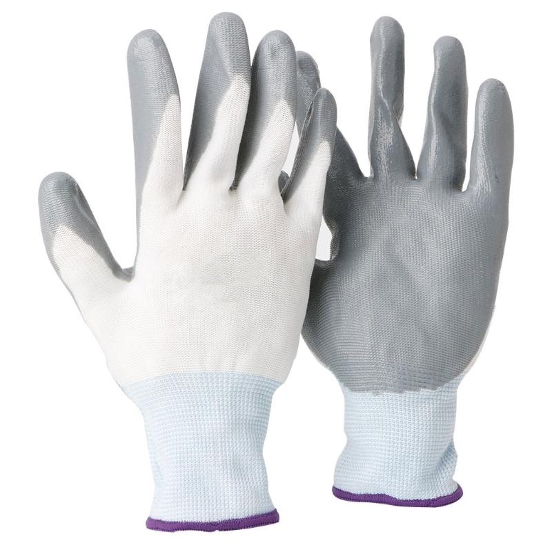 1 Paar Nitril Latex Nylon Arbeit Handschuhe Anti Slip Arbeit Garten Reparatur Builder Die Neueste Mode