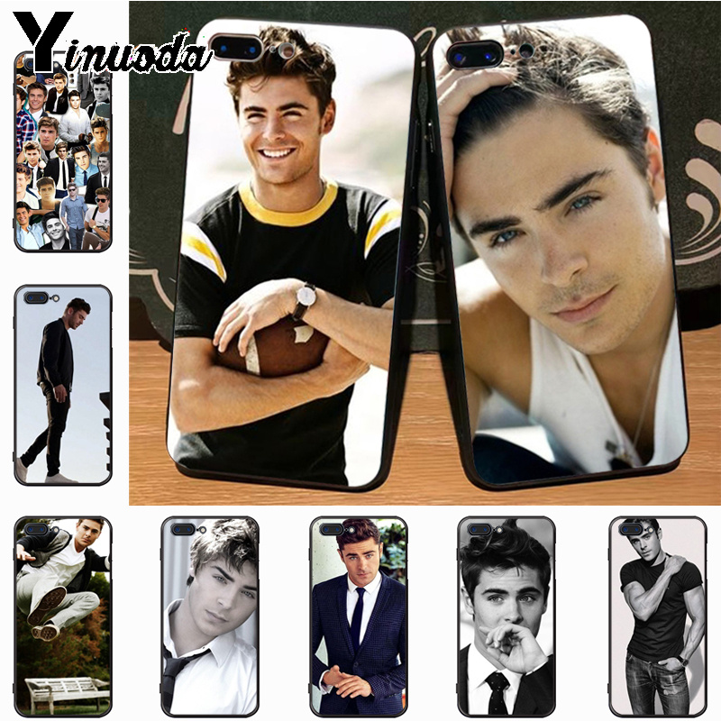 Yinuoda Zac Efron Cute Phone Accessories Case for iPhone 7plus X 6 6S 7 8  8Plus ef39984307b0