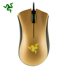 Razer Deathadder Gold Edition Gaming Mouse 3500DPI Yellow Breathing Light 1000Hz 3.5G Infrared Right-handed for PC Laptop(China)