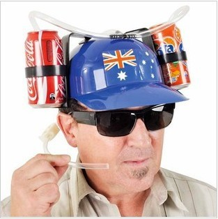 Free Shipping Creative Beer Can Holder Helmet  Drinking Helmet Drinking Hat /cap