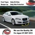 Автомобильный бампер губы для Jaguar XF 2007 ~ 2015/спойлер для настройки автомобиля/комплект для кузова полосы/передние ленты/для рамы корпуса боко...