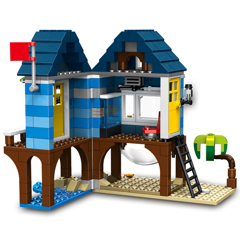 Toys Brinquedos   3in1 Brick My World Series 287pcs Beach Resort Tree House Model Building  Compatible LegoINGlys Toys  Children mary pope osborne magic tree house 3 mummies in the morning full color edition