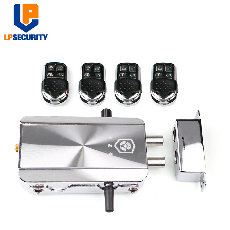 LPSECURITY Electronic Security Entry Door Lock Access Control Anti-theft System With 10 Remote Controls
