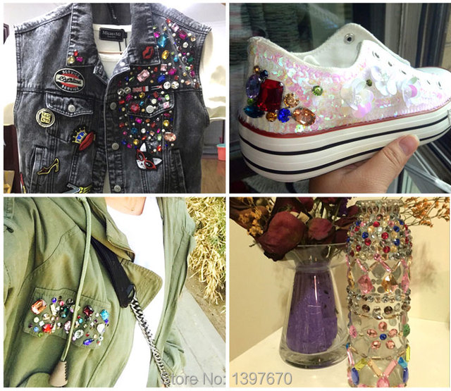 12pcs 8x13mm sew on teardrop silver setting Glass Crystal Jewellery Foiled Rhinestone stones DIY shoes/dress hair accessories 3