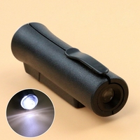 Ручной 80X светодиодный мини увеличительное стекло для микроскопа Карманная Лупа для идентификации
