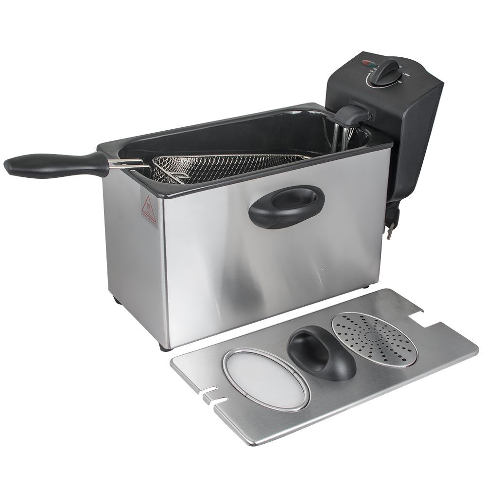 4L 110V Electric Deep Fryer Single-tank Commercial Tabletop Restaurant Frying Basket Stainless Steel Frying Machine Home Use shipule fast food restaurant 30l commercial electric chicken deep fryer commercial potato chips deep fryer frying machine