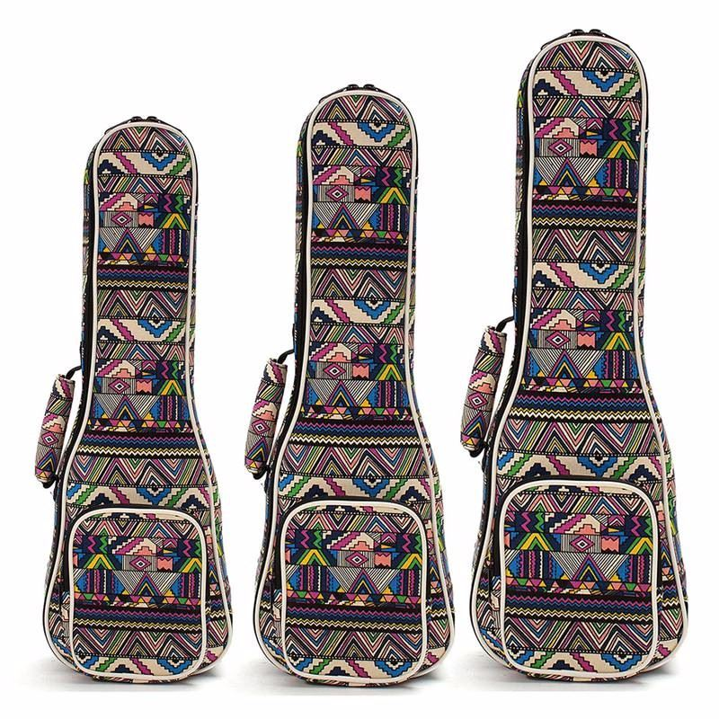High Quality Beautiful Soft Pad Cotton Folk Style Hand Portable Bag Case Cover For Ukulele 21