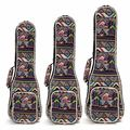 High Quality Beautiful Soft Pad Cotton Folk Style Hand Portable Bag Case Cover For Ukulele 21''/23''/26'' Small Guitar Gig Bag