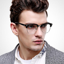 -1.0 -1.5 -2.0 to -4.0 Radiation Protection Rivet Eyewear Women Half Frame Glasses 1.56 Refractive index Retro Optical Glasses