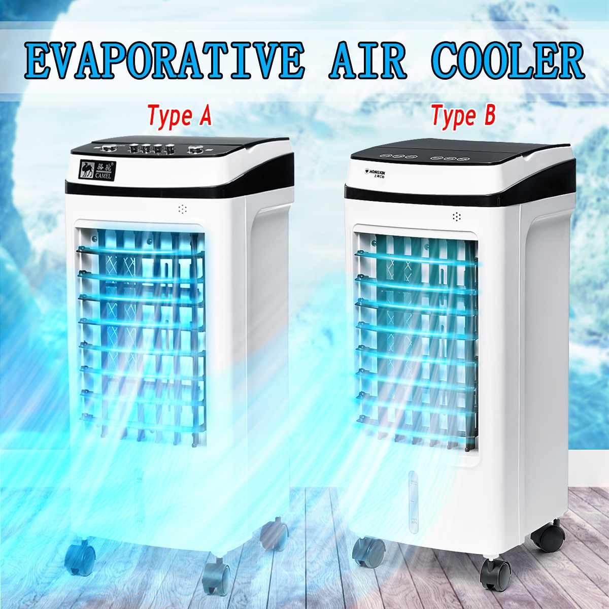 220V 50Hz Evaporative Air Conditioner Cooler Fan Ice Purifier Humidifier Remote Control 3 Wind Modes Wide Angle Air Output220V 50Hz Evaporative Air Conditioner Cooler Fan Ice Purifier Humidifier Remote Control 3 Wind Modes Wide Angle Air Output