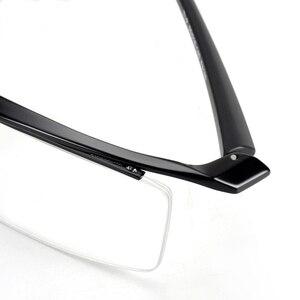 Image 4 - Browline Half Rim Titanium Metal Glasses Frame for Men Eyeglasses Fashion Cool Optical Eyewear Man Spectacles Prescription Frame