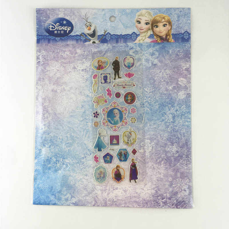 7 Sheets/lot DISNEY frozen elsa and Anna Child 3D stickers snow  Sofia Classic Toys   Sticker