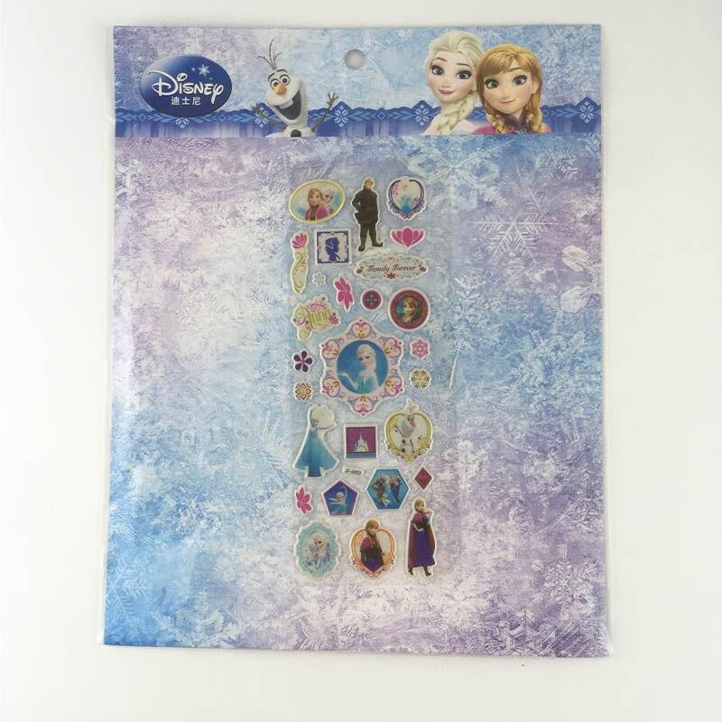 DISNEY frozen elsa and Anna Child 3D stickers snow  Sofia Classic Toys   Sticker