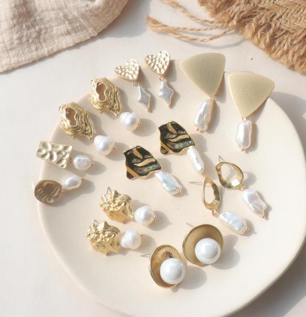 Freshwater Pearl Stud Earrings for Women