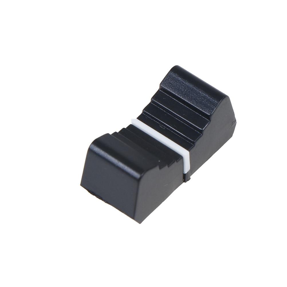 10Pcs Fader Knob Cap Touch Sensitive Slider Ribbed Mixer Desk Switch Knob Cap 8mm