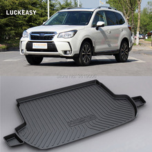 LUCKEASY Non-Slip Waterproof 3D TPO Trunk Boot Cargo Mat Recycled Durable For Subaru Forester Car-styling