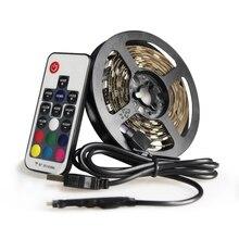 Васеда USB DC 5 V Светодиодные ленты света ТВ фонового освещения SMD5050 DC 5 V гибкий светодиодный лента 50 см 1 м 2 м 3 м DIY декоративные полосы