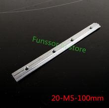 10 stücke/lot 2020 Aluminium Profil Verbindung Zubehör Stecker Link Mit M5 Schraube 100MM