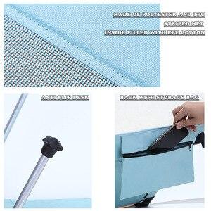 Image 5 - 높은 품질 야외 Foldable 비치의 자 휴대용 여름 휴가 통풍 태양 Lounger 홈 야외 가든의 자 침대