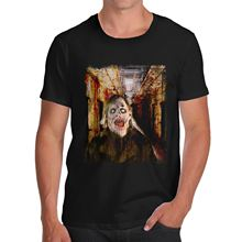 Tee Design Crew Neck Short Mens Real Life Horror Organic Cotton T Shirts