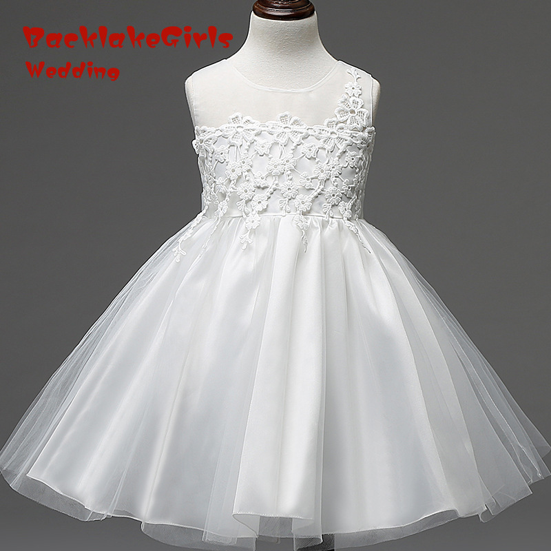 High Quality 2018 Elegant YIYI Flower Girl Dresses Appliques Flowers Long Princess Party Pageant First Communion Dresses FD016
