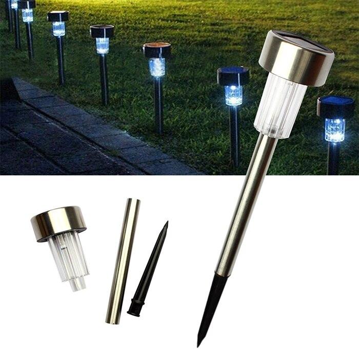 5pcs solar panel led spike spot lights spotlights landscape garden yard path lawn solar lamps outdoor - Solar Yard Lights