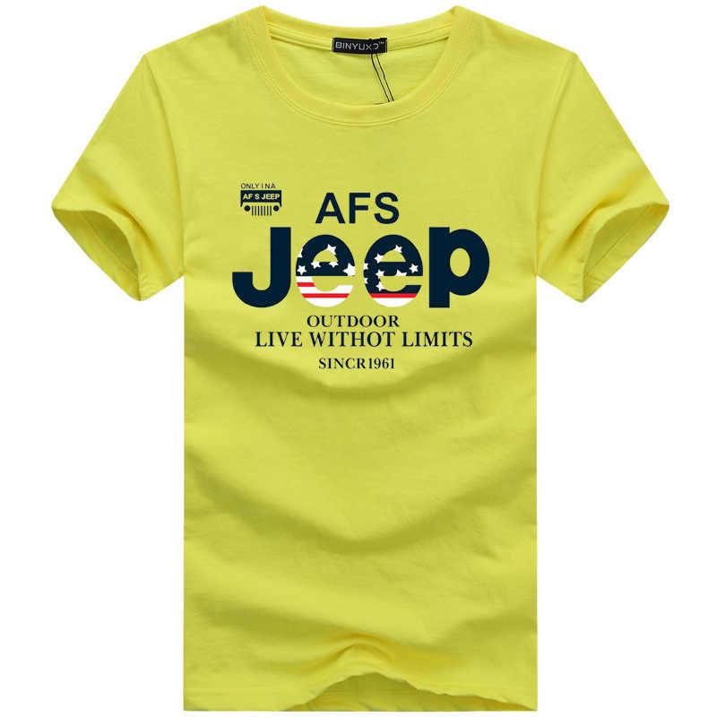 AFS джип брендовая летняя футболка мужская хлопковая с коротким рукавом Военная футболка армейская тактическая футболка плюс размер M-5XL футболка homme