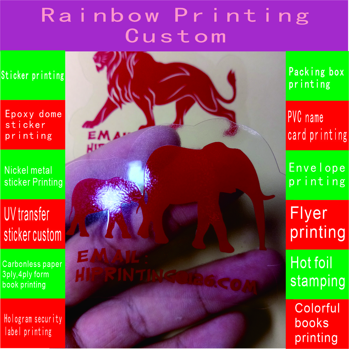Custom logo printing transparent clear self adhesive vinyl decal PVC label sticker