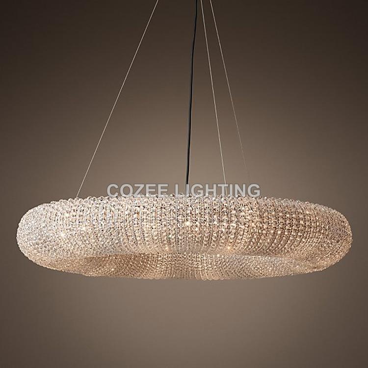Modern Cristal Chandeliers Lighting RH Round Crystal ...