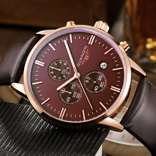 GUANQIN Mens Watches Top Brand Mewah Jam Kuarsa Olahraga Militer Pria Chronograph Luminous Tangan Pria Clock Relogio Masculino(China)