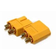 Envío gratis 1 Par (2 unids) chapado en Oro XT60 XT-60 Masculino Femenino Bullet Conectores Enchufes Para RC Lipo batería