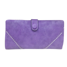Wholesale10*Long Women Wallet Messenger bags Handbag Retro Dull Polish Purse Multifunctional-purple