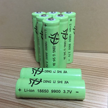 DING LI SHI JIA XL 6pcs 18650 3.7v 9900 Li-ion battery High capacity rechargeable lithium battery mah flashlight batteries 3.7 V цена