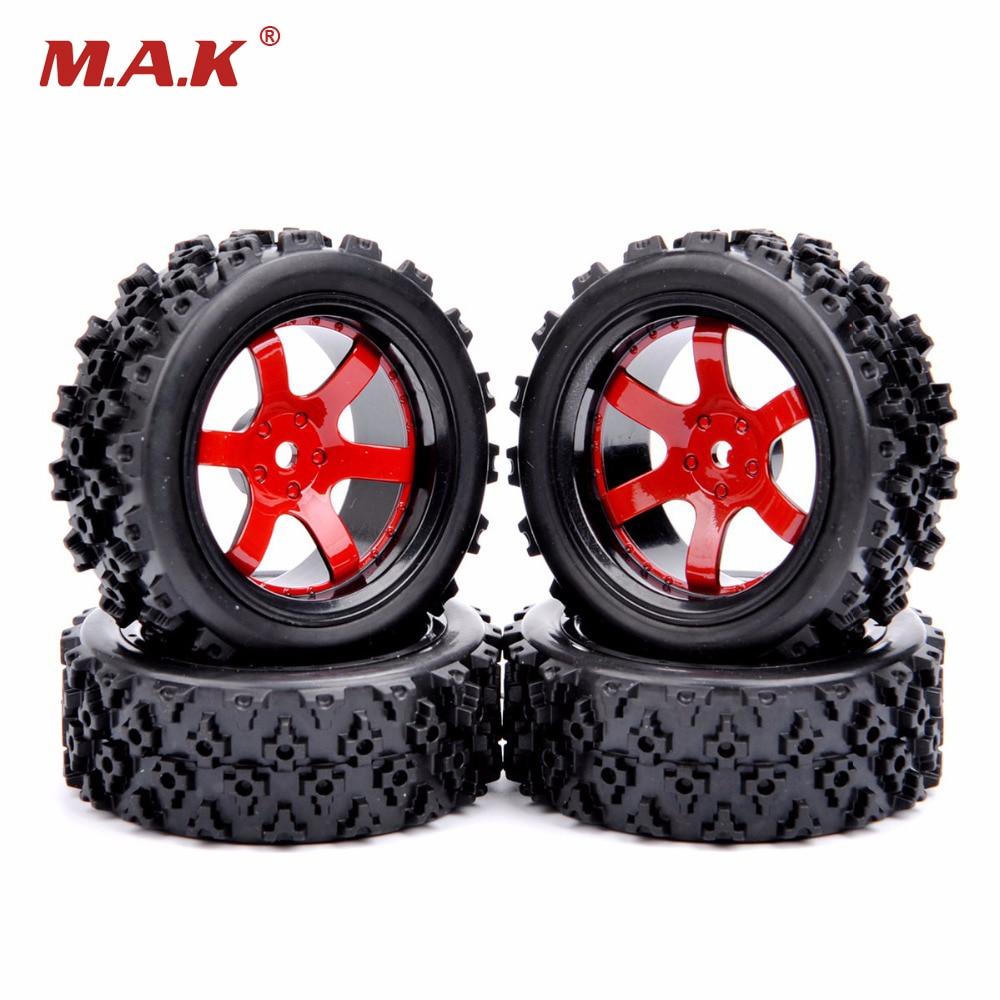 4Pcs Rubber Rally Tires Wheel Rim D6NKR Fit HSP HPI RC 1:10 Model Racing Car 4pcs rubber rc racing tires car on road wheel rim fit for hsp hpi 1 10 high quality rc car part diameter 68mm tires