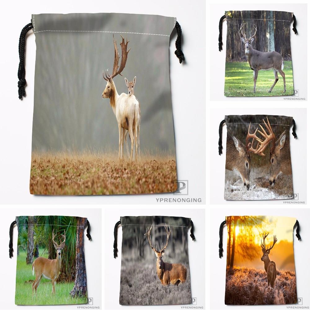 Custom Noble Deer Drawstring Bags Printing Travel Storage Mini Pouch Swim Hiking Toy Bag Size 18x22cm#180412-11-88