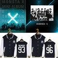HPEIYPEI KPOP Корейская Мода MONSTA X I.M JOOHEON MINHYUK SHOWNU Альбом Хлопок K-POP Бейсбол Куртка Пальто PT229