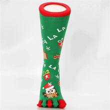 Meias Dos Homens Engraçados do natal do Boneco de neve de Papai Noel Coruja Impresso Novidade Cinco Meias Dedo Dedo do pé Com Dedos Separados Meias Felizes