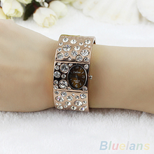 Hot Sales 2014 New Hot Women Fashion Dial Rhinestone Crystal Bracelet Bangle Quartz Wrist Watches 02R4 4MG6