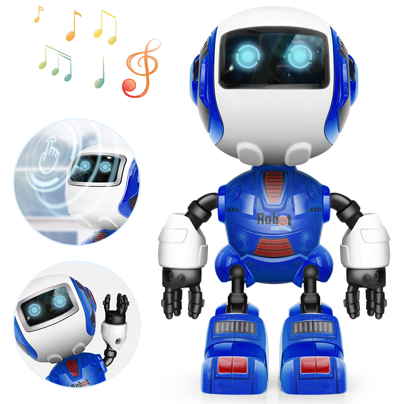 DODOELEPHANT Smart Robot Speaking Electronic Toys <font><b>Action</b></font> Figure W/ Head Touch-Sensitiv LED Light Toys For Boys Gift