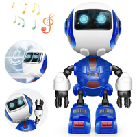 DODOELEPHANT Smart Robot Toy Electronic Action Figure Toy Head Touch-Sensitiv LED Light Alloy Robot Toys For Boys Birthday Gift